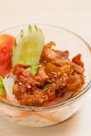hoisin: Japanese simple side dish salad with fried chicken