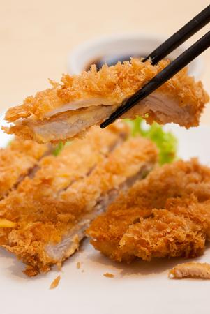 Tonkatsu deep fried pork Japanese food Reklamní fotografie