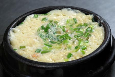 korean steamed egg bowl