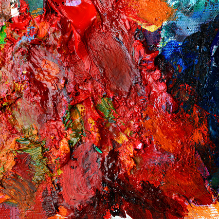 oil color: Mixed colorful of oil color paint Stock Photo