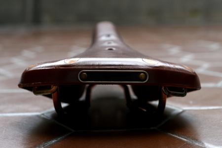 saddle: vintage bicycle leather saddle