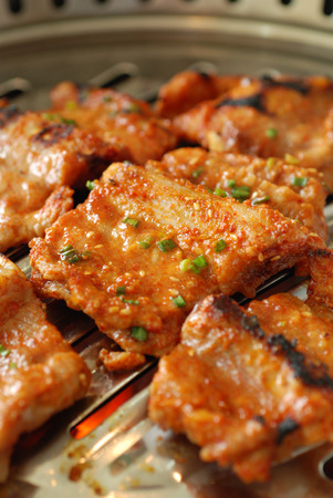 korean food: Spicy pork ribs BBQ, Korean food