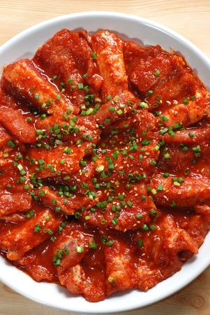 korean food: Spicy pork BBQ, Korean food