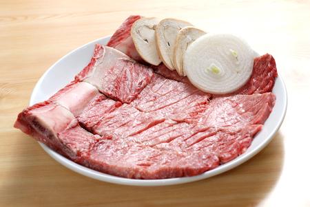 korean food: pork ribs BBQ, Korean food
