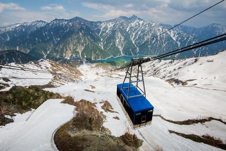 Cable car at Tateyama Kurobe Alpine Route, Japan destination travel Reklamní fotografie