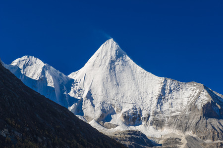 The Snow mountain sanctuary at national level reserve in Daocheng County, in the southwest of Sichuan Province, China.