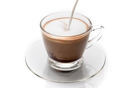 cappuccino foam: Making cappuccino coffee