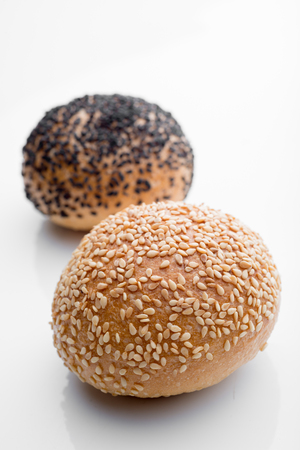 Sesame bread on a white background