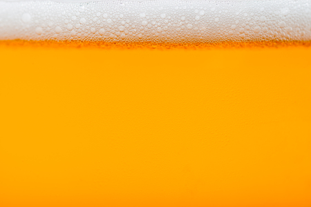 craft beer bubbles in glass