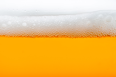 poured: craft beer bubbles in glass