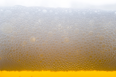 real ale: texture of craft beer bubbles in glass