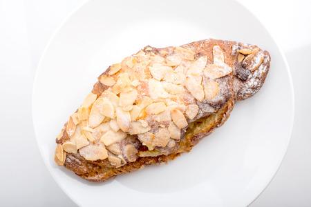 Almond Croissants Stock Photo