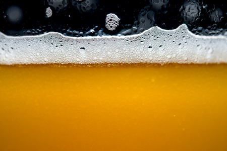 Close up Craft beer bubbles Imagens