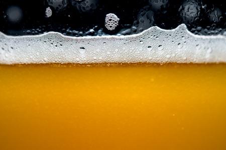 Close up Craft beer bubbles Banco de Imagens