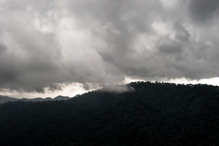 Strom clouds above rainforest at Viewpoint Of Khao Yai National Park, Nakhonratsima, THAILAND Reklamní fotografie