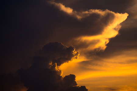Evening sky with Clouds in golden hour