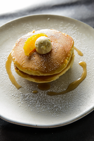 Butter milk pancake is very taste of the breakfast Banque d'images