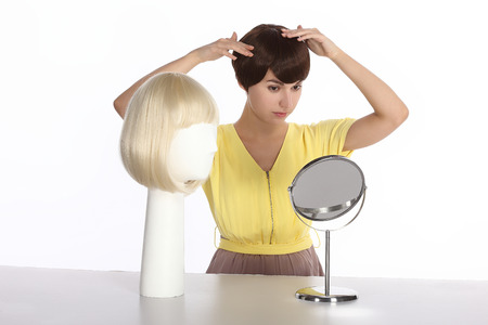 periwig: hairdressing Stock Photo