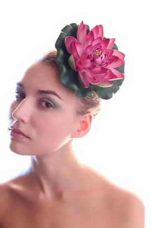 Makeup girl photo