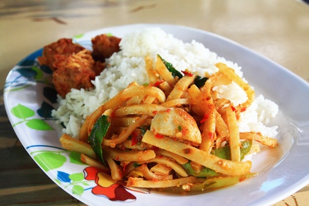 curry with rice photo