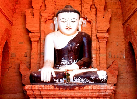 Old Buddha statue in myanmar Stock Photo