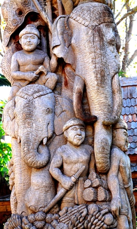 wood carvings: Wood carvings Show life style
