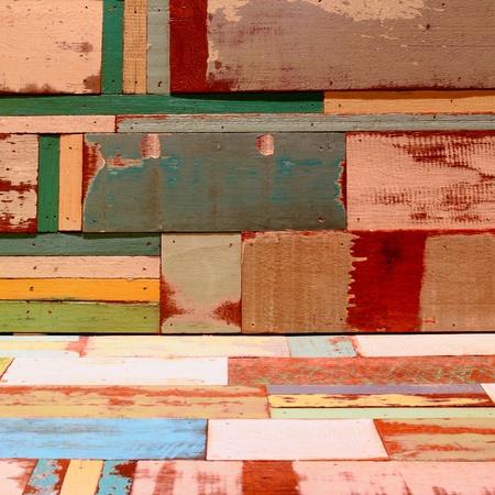 創造的な木製の背景 写真素材