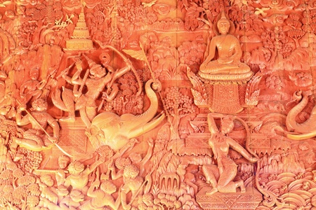 Thai style wood carving