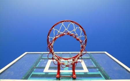 basketball net: Basket hoop over sky