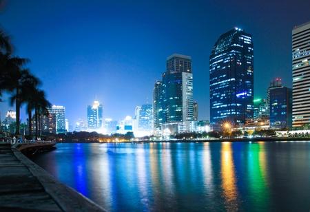City at twilight good view  Stock Photo