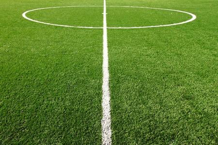 football net: soccer field grass  Stock Photo
