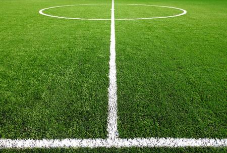 pasto sintetico: fútbol campo de hierba Foto de archivo
