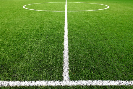 grass line: soccer field grass  Stock Photo