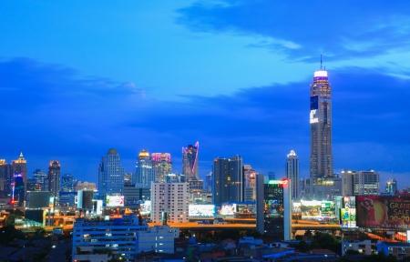 City at twilight good view