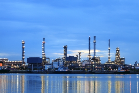 Refinery plant area at twilight  photo