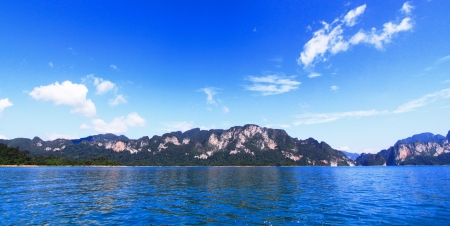 Blue sky  over water photo