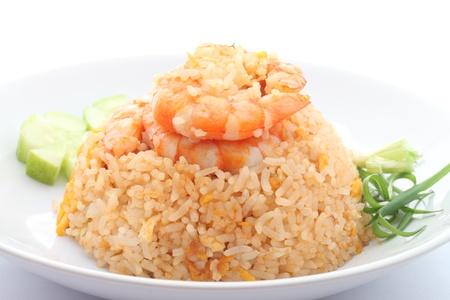 garnalen gebakken rijst