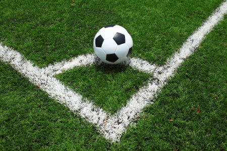 synthetic: Soccer ball on the field