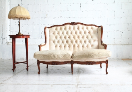 Luxurious vintage  sofa photo