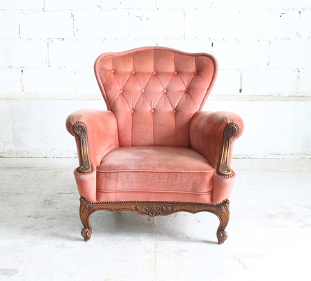 Luxurious vintage armchair photo