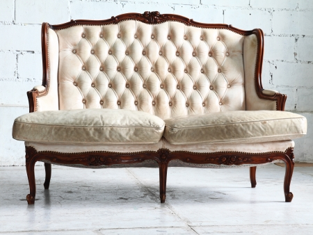 vintage sofa in the room  photo