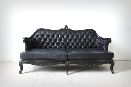 vintage sofa in the room  Stock Photo
