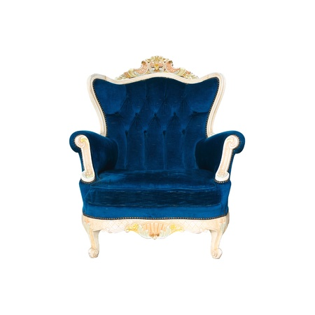 antique fashion: Luxurious armchair with clipng part