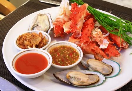 アラスカ蟹と海鮮 写真素材