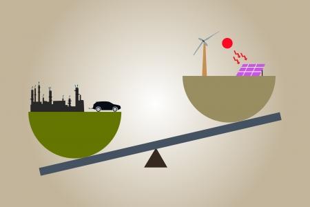 energy balance: renewable energy Balance  Illustration