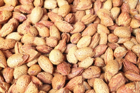 Almonds background photo