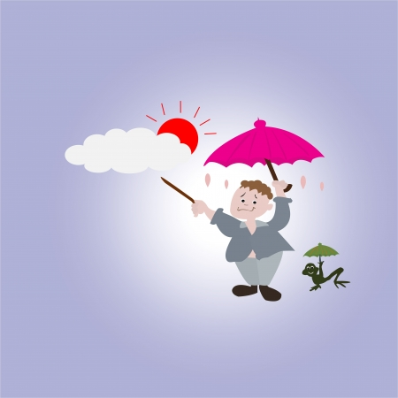 Cloud and rain - weather Stock Vector - 17621344