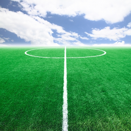 soccer kick: Soccer football field stadium  Stock Photo