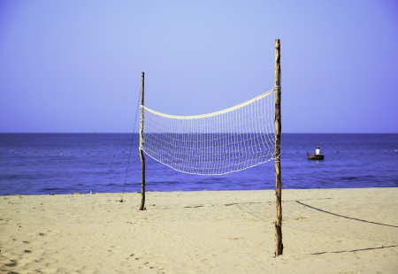Volleyball net at the beach, sports concepts Stock Photo - 18249568