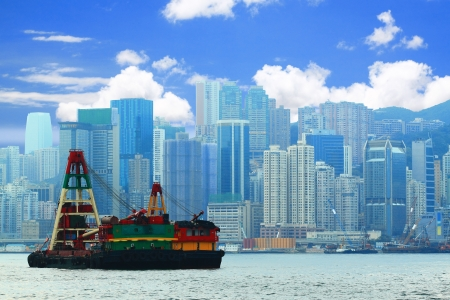 habour: view of Hong Kong Stock Photo